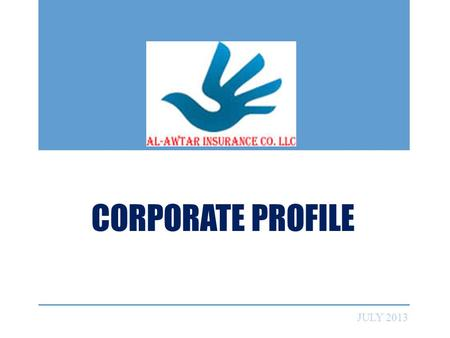 CORPORATE PROFILE JULY 2013. AGENDA WHO WE ARE OUR VISION & MISSION MANAGEMENT STRUCTURE WHAT WE OFFER FIND US NEAR YOU.