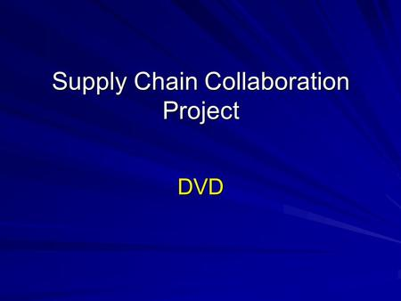 "Supply Chain Collaboration Project DVD. Paradigm shift ""The single most significant technological development to affect publishing since, arguably, the."