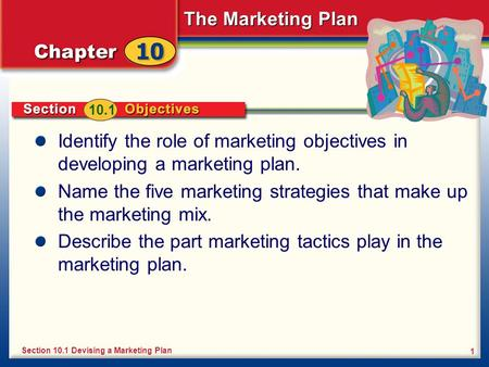 Name the five marketing strategies that make up the marketing mix.