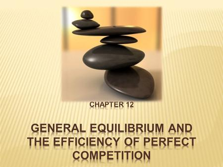 General Equilibrium Analysis A Technological Advance: The Electronic Calculator Market Adjustment to Changes in Demand Formal Proof of a General Competitive.