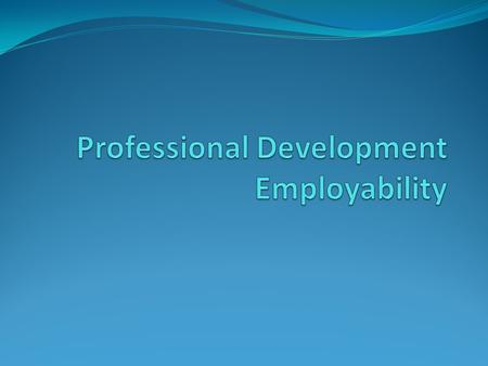 Professional Development Employability