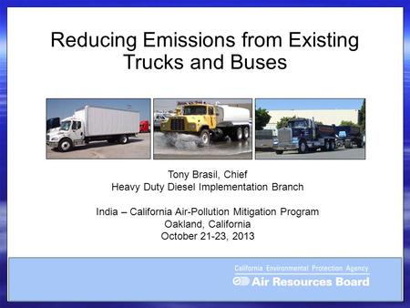 Reducing Emissions from Existing Trucks and Buses