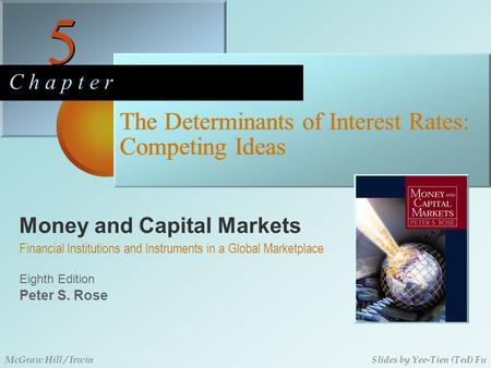 Money and Capital Markets 5 5 C h a p t e r Eighth Edition Financial Institutions and Instruments in a Global Marketplace Peter S. Rose McGraw Hill / IrwinSlides.