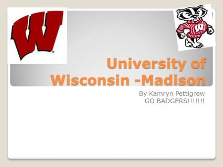 University of Wisconsin -Madison By Kamryn Pettigrew GO BADGERS!!!!!!!