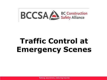 Traffic Control at Emergency Scenes