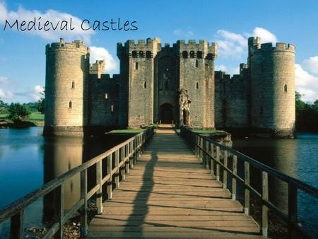 Medieval Castles. Medieval Castle History  Normans had first introduced the wooden Motte and Bailey castles, which then led to the design of the stone.