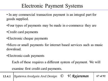 types of electronic payment systems essay Secure and efficient electronic payment systems c electronic cash this essay has defined privacy as cryptography of anonymous electronic cash.
