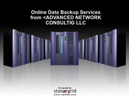 Online Data Backup Services from <ADVANCED NETWORK CONSULTIG LLC.