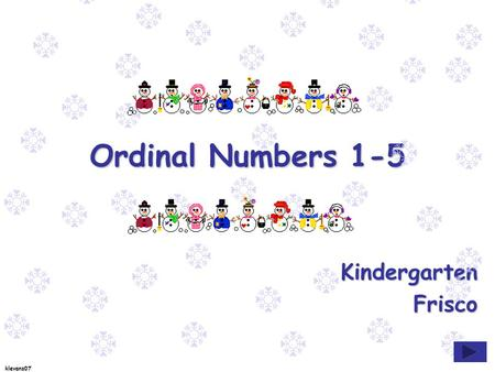 klevans07 Ordinal Numbers 1-5 KindergartenFrisco.