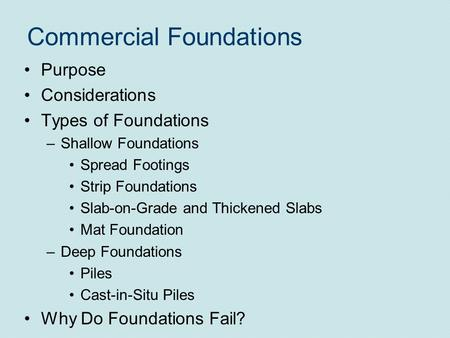 Pile foundation brief outline definition of pile for Slab foundation definition