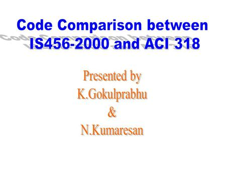 Code Comparison between