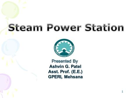 1. A generating station, which converts the heat energy of coal combustion into electrical energy, is known as a steam power station. A steam power station.