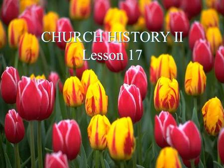 "CHURCH HISTORY II Lesson 17. ""God's Free Mercy"" The Church in the Netherlands ""What the descendants of the old Dutch Calvinists as well as of the Pilgrim."