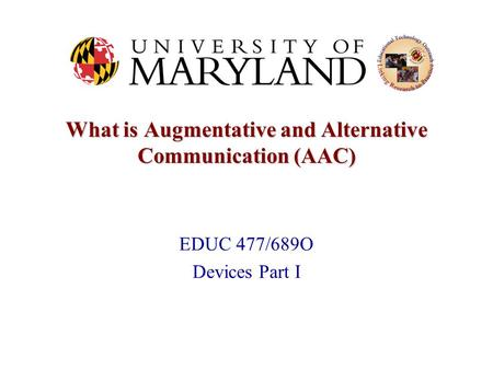 What is Augmentative and Alternative Communication (AAC)