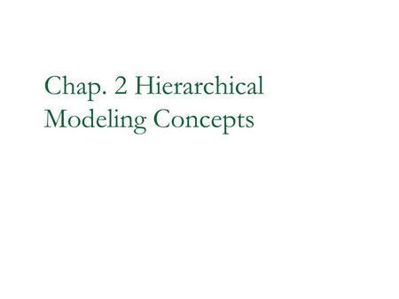 Chap. 2 Hierarchical Modeling Concepts. 2 Hierarchical Modeling Concepts Design Methodologies 4-bit Ripple Carry Counter Modules Instances Components.