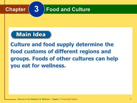 3 Chapter Food and Culture
