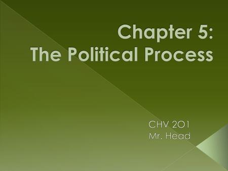  Why is it important to understand how the political process works? What are some ways that individuals and groups can be involved in the political process?