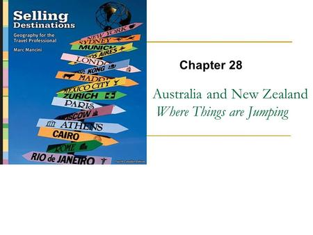 Australia and New Zealand Where Things are Jumping