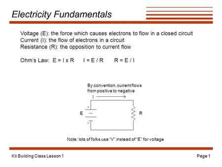 Electricity Fundamentals