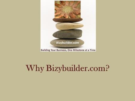 Why Bizybuilder.com?. What Do We Know About Internet Advertising? B.B.A. Marketing & Advanced Professional Sales Certification from University of Houston.