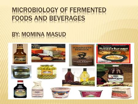  Introduction.  Properties of fermented foods and beverages.  Microorganisms and metabolisms.  Role of bacteria in the production.  Lactic acid bacteria.