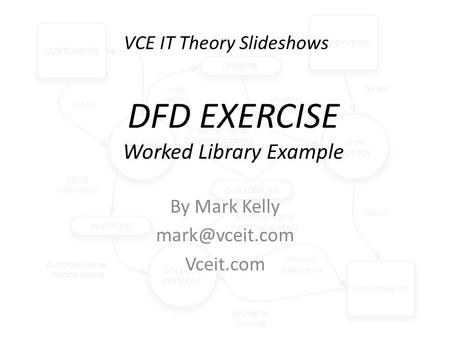 VCE IT Theory Slideshows By Mark Kelly Vceit.com DFD EXERCISE Worked Library Example.