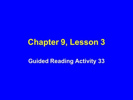 Chapter 9, Lesson 3 Guided Reading Activity 33. 1. Describe six persistent feelings or behaviors that signal the need to seek help dealing with mental.