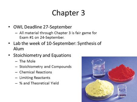 Chapter 3 OWL Deadline 27-September