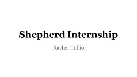 Shepherd Internship Rachel Tullio. Little Flower Clinic ●Healthcare for the homeless clinic ●Services ○Visits with a Medical Provider ○Disease/Case Management.