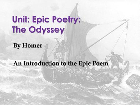 an analysis of the poem the odyssey by homer