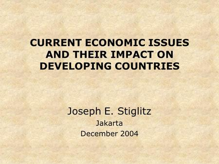 impact of globalisation on developing countries pdf