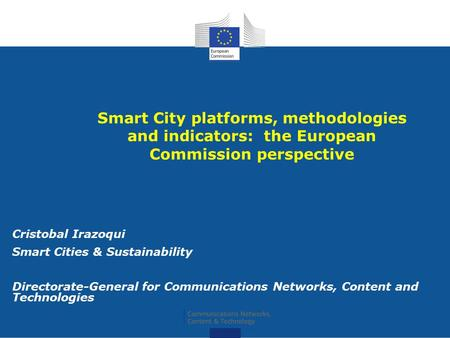 Cristobal Irazoqui Smart Cities & Sustainability