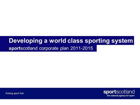 Developing a world class sporting system