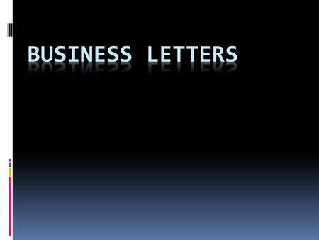 "Typing Business Letters  Before you type any business letter, set the margins, and any tabs or indents needed.  The ""Top Margin"" for most business letters."
