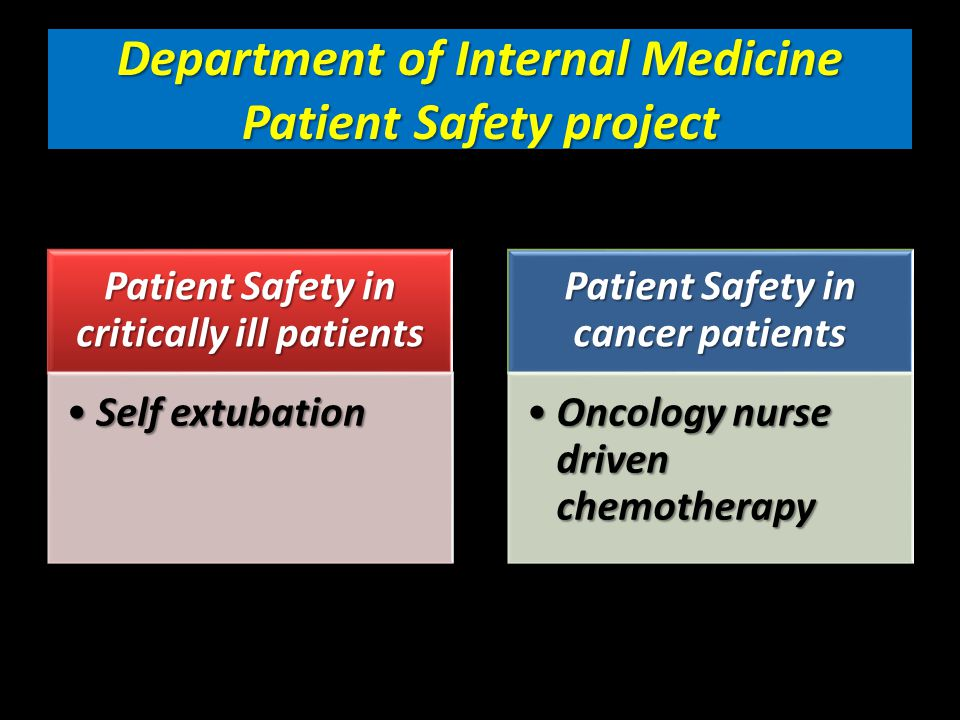 Patient Safety in Critically ill patients Prevention of self extubation in medical ICU