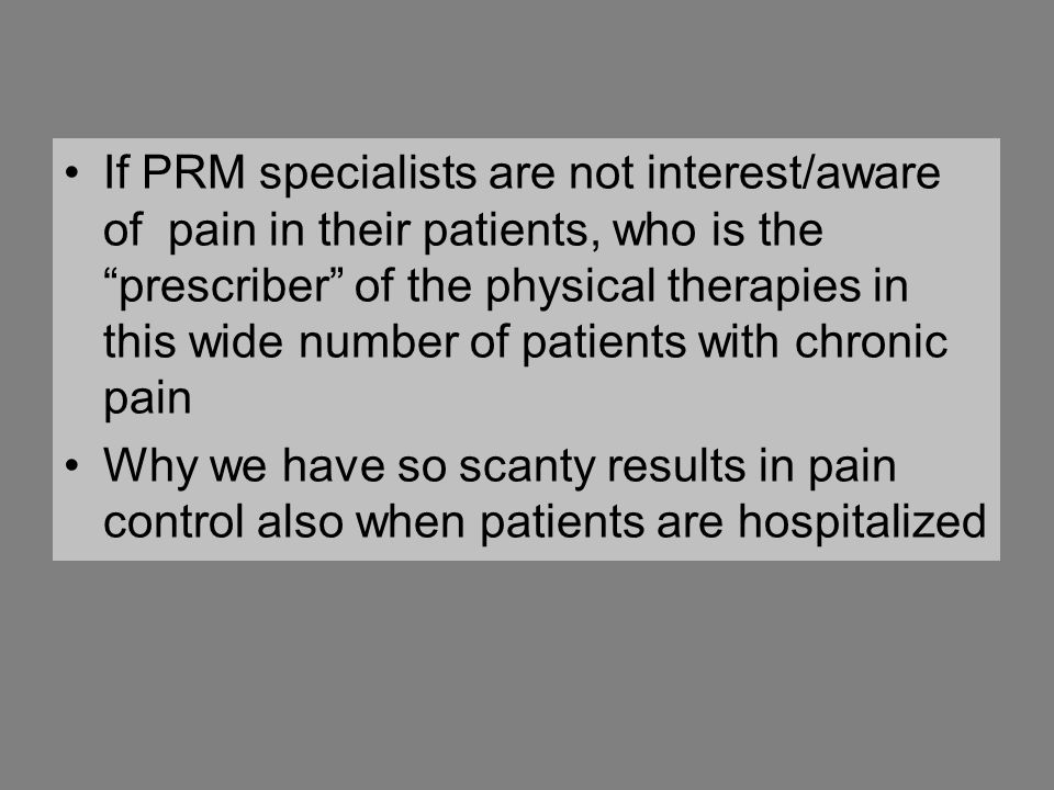 Willing to prescribe phys.Ther.