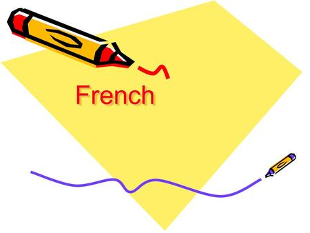 FrenchFrench. 2 French in the world French is a Romance languagea descendent of Latin, along with Italian, Spanish, Portuguese, Rumanian, etc. It developed.