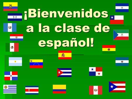 ¡Bienvenidos a la clase de español!. What will my child learn this year in Spanish I? Tema 1 Para empezar (Introduction) Tema 1 Para empezar (Introduction)