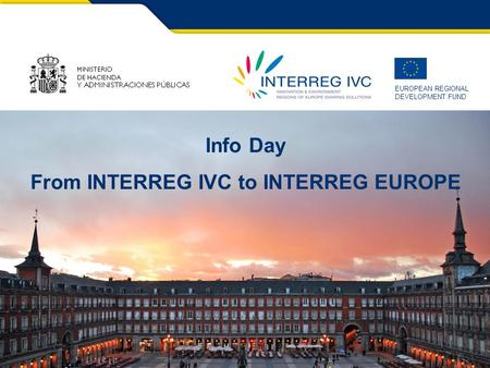 From INTERREG IVC to INTERREG EUROPE