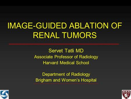 IMAGE-GUIDED ABLATION OF RENAL TUMORS