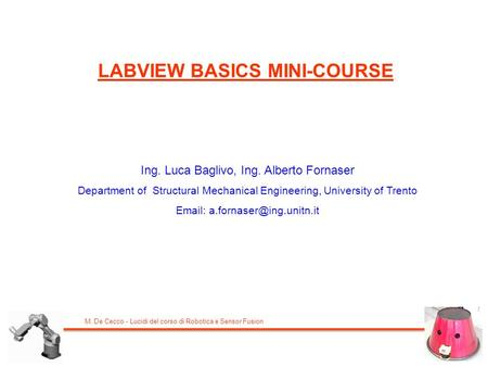LABVIEW BASICS MINI-COURSE