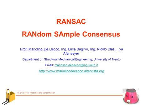 RANdom SAmple Consensus