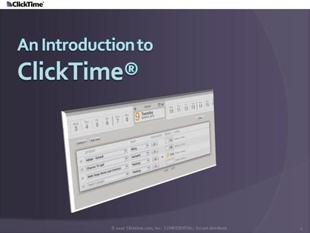 An Introduction to ClickTime®