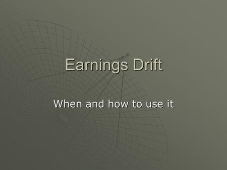 Earnings Drift When and how to use it. Cedd Moses Interview in The Best Conversations with Top Traders by Marder and Dupee Competed against David Ryan.