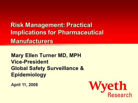 Mary Ellen Turner MD, MPH Vice-President