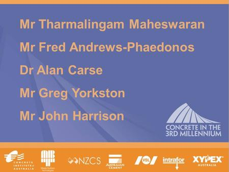 Www.tececo.com 1 Mr Tharmalingam Maheswaran Mr Fred Andrews-Phaedonos Dr Alan Carse Mr Greg Yorkston Mr John Harrison.