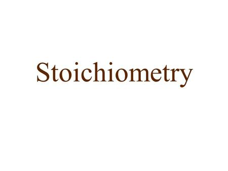 Stoichiometry. Stoichiometry Recall that many conversion factors exist: 4 mol NH 3 /5 mol O 2, 6 mol H 2 O/4 mol NH 3, etc In words, this tells us that.