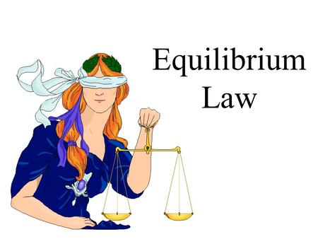 Equilibrium Law. Introduction to the Equilibrium law Read 14.3 to PE1 2H 2 (g) + O 2 (g) 2H 2 O (g) Step 1:Set up the equilibrium law equation Kc = Step.