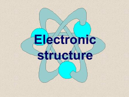 Electronic structure Background: basic structure 6.1: Review (do not have to know details) - shows evidence for the basic atomic model Sub-atomic particles.