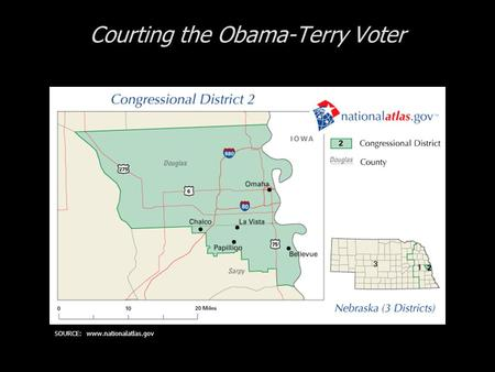 Courting the Obama-Terry Voter SOURCE: www.nationalatlas.gov.